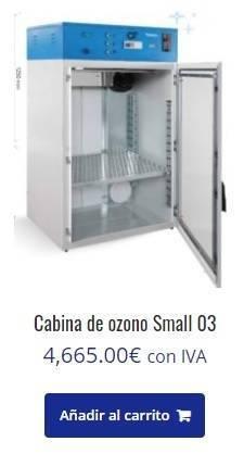 cabina de ozono, Cabina de ozono para desinfectar,